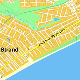 Greve Strand kort p Krak