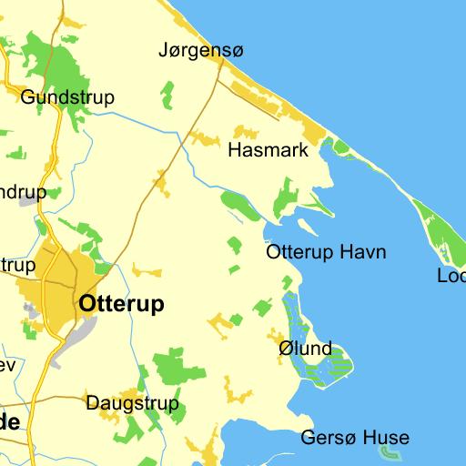 Odense V Tinderbox Ruteplan På Kort