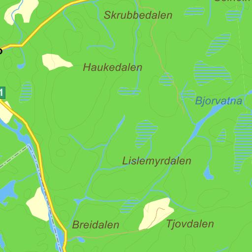 tovdalselva kart Tovdalselva på Gule Siders kart