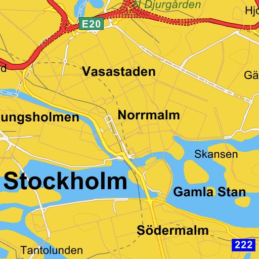 Innerstaden Stockholm - karta på Eniro d94e0502146bc