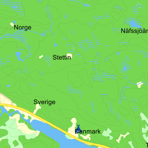 karta över södra sverige