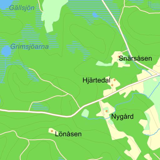 karta ullared med omnejd