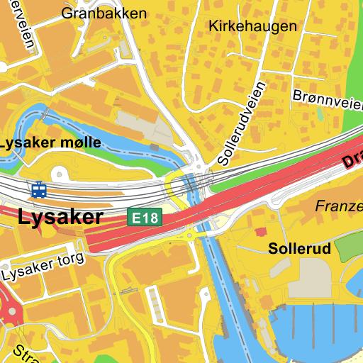 lysaker stasjon kart Lysaker Stasjon på Gule Siders kart