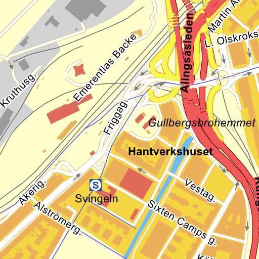 Karta E6 Goteborg.Goteborg Odinsplatsen Karta Pa Eniro