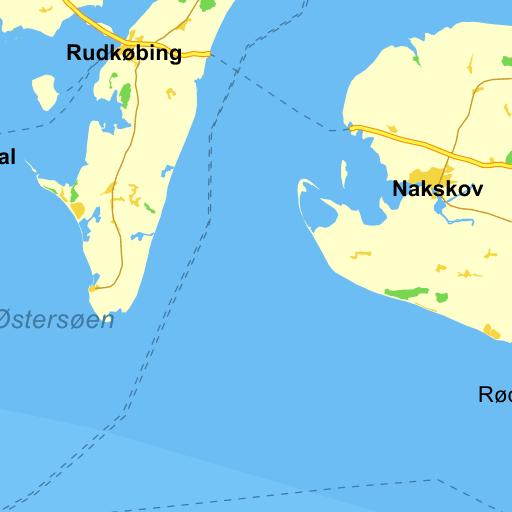 kort over fyn med byer